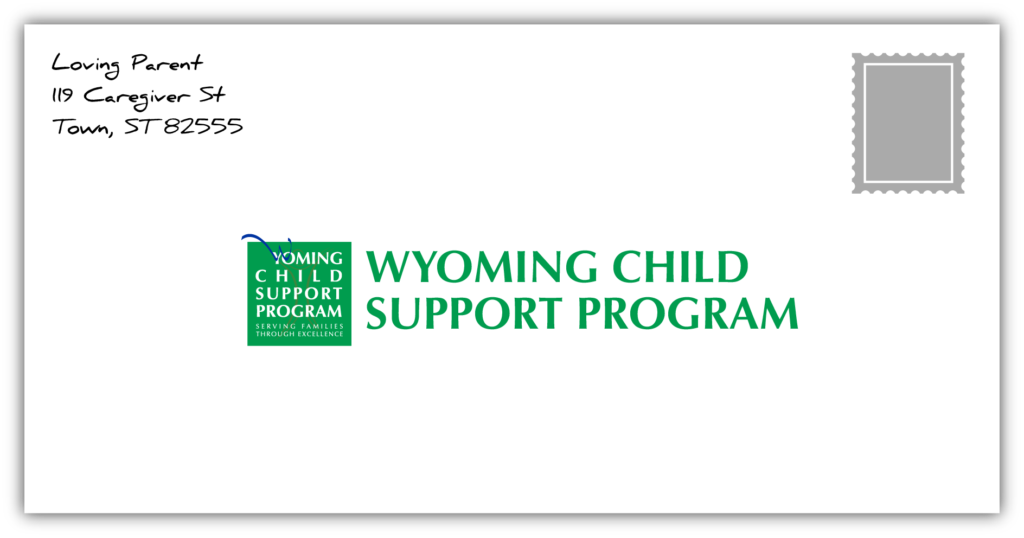 Mail in your child support payment to the Wyoming Child Support Program