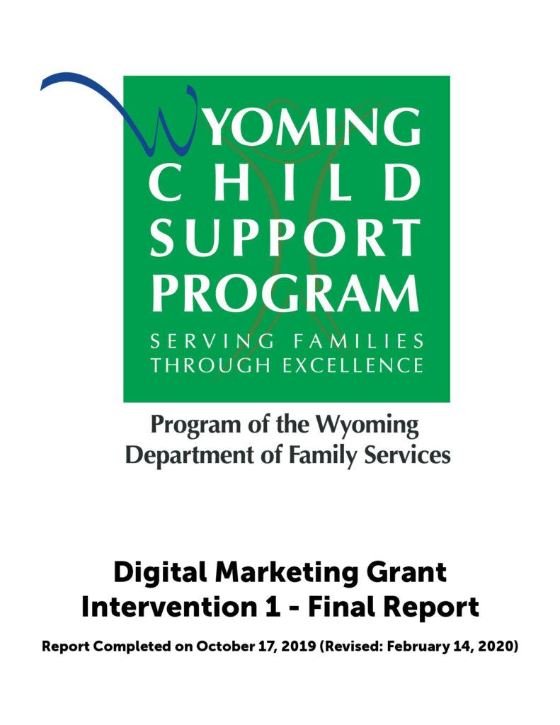 Digital Marketing Grant - Intervention 1 - Final Report