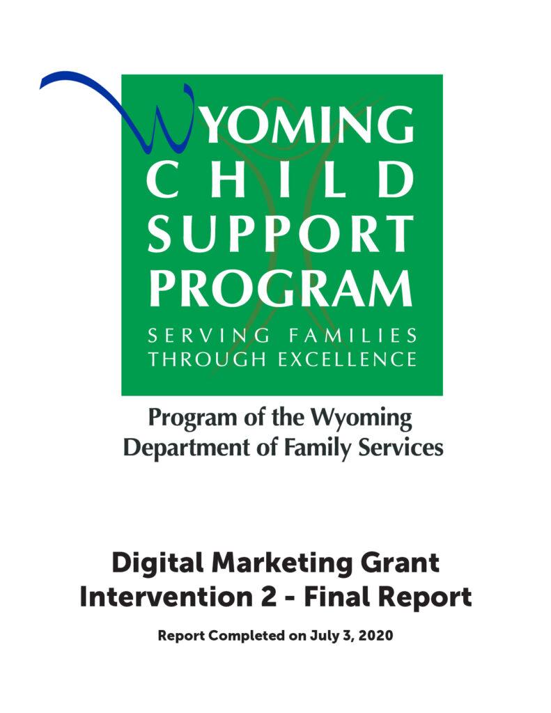 Digital Marketing Grant - Intervention 2 - Final Report